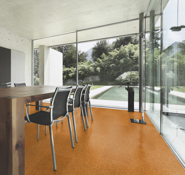 sch ner wohnen korkboden gestaltung in holz. Black Bedroom Furniture Sets. Home Design Ideas