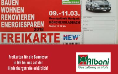 Freikarten für die Baumesse in Mönchengladbach