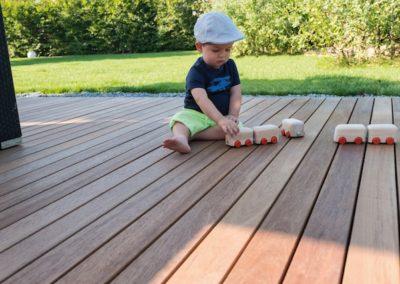 Terrassengestaltung in Holz