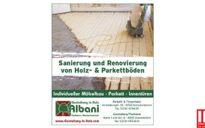 Sanierung und Renovierung von Holz- und Parkettboden