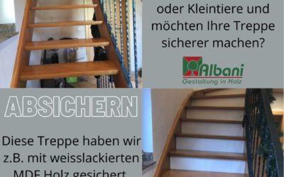 Treppen verkleiden und sicherer machen