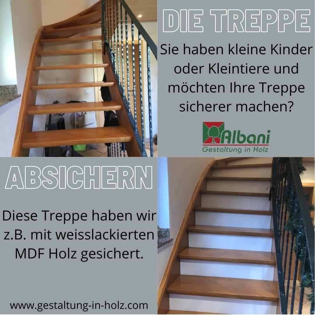 Wie sichere ich meine Treppe ab
