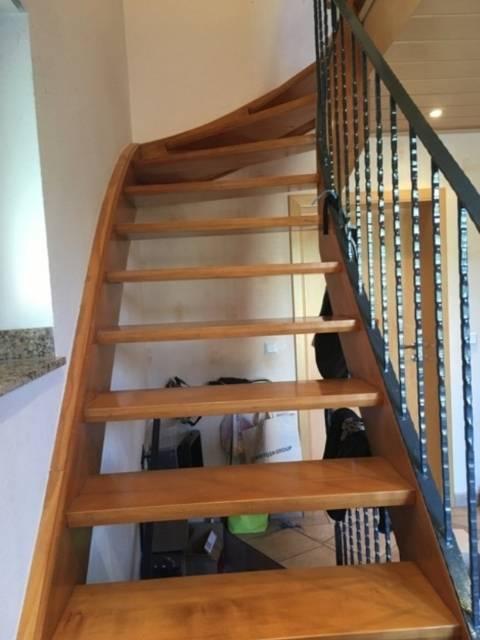 Treppe absichern vorher